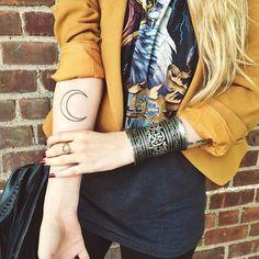 crescent moon tattoo♥