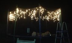 trampoline with lights - fun for summer nights sleepovers & slumber parties! I need a trampoline.