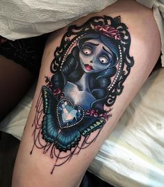 Corpse Bride Leg Tattoo | Best Tattoo Ideas & Designs