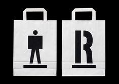 Identitet för utställningsorganisationen Riksutställningar. Logotype, symboler, typografi, skyltsystem, förpackningar, mässmontrar, flaggor, grafisk manual, arbetskläder, fordonsgrafik, stationery m.m., 1996–2001.