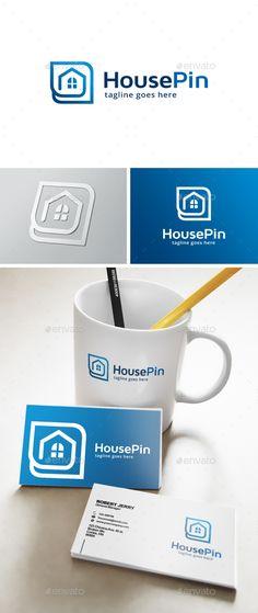 House Point Logo Template #design #logotype Download: http://graphicriver.net/item/house-point-logo/13639939?ref=ksioks