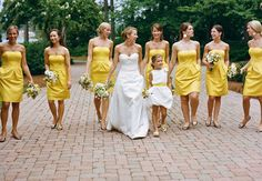 Love the short yellow dresses!