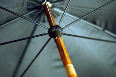 Close up on a Brigg umbrella.