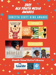 Posters: 2021 ALA Youth Media Awards – Granite Media Library Posters, Coretta Scott King, American Library Association, Book Lists, Nonfiction, Granite, Good Books, Audiobooks, Awards
