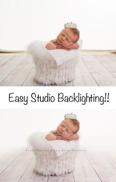 Easy Studio Backlighting, lastolite, newborn, Kansas City Newborn Photographer Swade Studios