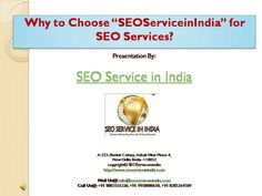 #SEOServiceinIndia is a complete Internet and #SEO Marketing company provider that consults and implements your entire web promotion strategy.