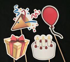 Emoji Birthday Photo Booth Props