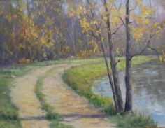 Artist Rodney Laughon Oil Painting Along the Creek