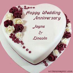Wedding Anniversary Cake Image, Happy Marriage Anniversary Cake, Anniversary Cake Pictures, Anniversary Cake With Photo, Happy Wedding Anniversary Wishes, Anniversary Ideas, Wedding Wishes, Wedding Things, Wedding Bride