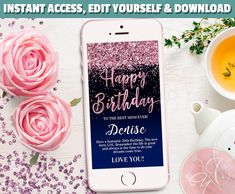 Welcome to my Etsy Shop Glitter Text, Rose Gold Glitter, Sms Message, Text Messages, My Princess, 50th Birthday, Happy Birthday, Electronic Cards, Smartphone