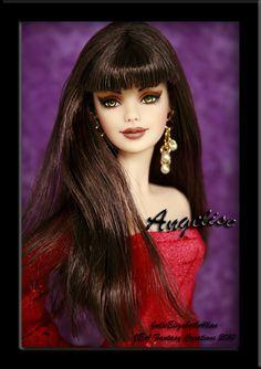 "Angelise - OOAK Custom Barbie by *blueshellmermaid"" on deviantART Barbie I, Barbie World, Barbies Dolls, Barbie Clothes, Custom Barbie, Custom Dolls, Beautiful Barbie Dolls, Beautiful Costumes, Lucky Girl"