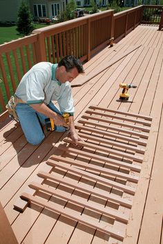 How do I replace cracked boards on the deck? Answer: Care need to taken to protect the undamaged deck boards...