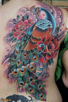 Peacock Tattoo - 55+ Peacock Tattoo Designs <3 <3