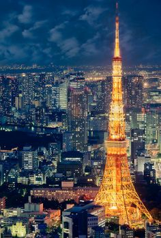 Tokyo Tower, Japan - photo by Ricky, via Flickr