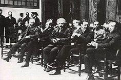 Albert Einstein a l'Escola Industrial de Barcelona, durant la seva visita a la ciutat el febrer de 1923.