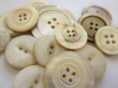 Vintage Buttons  Lot of 15 beautiful  assorted by pillowtalkswf, $8.00