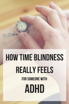 time-blindness graphic ADHD pinterest