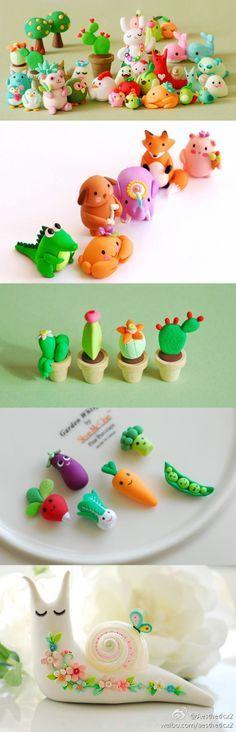 cute clay items :3
