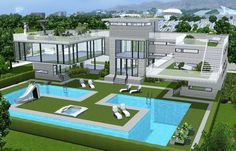 Luxorious Sims 3 Pool and Cafe Must Have Gorgeous Sims 3 Houses and Villas | Sims3fixes