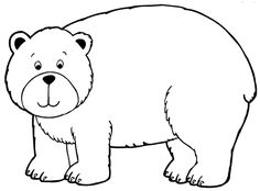 Printable Bear Coloring Pages Black Home Ideas