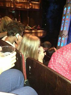 Harry and Cara at a theater last night