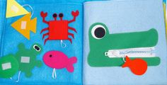 Quiet Book 10 Pages by QuietTimeDesigns on Etsy