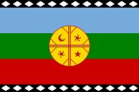 Wenufoye - Mapuche flag. Four directions signifying four forces in the world.