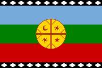Wenufoye - bandera mapuche bandera que ha sido usada por diversas organizaciones mapuches desde 1992.1
