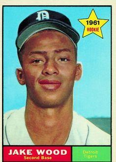 Jake Wood 1961 Second Base - Detroit Tigers  Card Number: 514