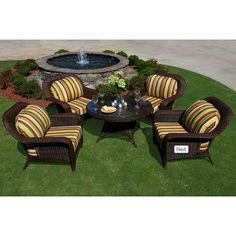Darby Home Co Fleischmann 5 Piece Conversation Seating Group Finish: Java, Fabric: Rave Brick