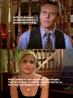 Giles and buffy with the mind reading