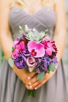 Photography: Wai Reyes Photography - waiphoto.com  Read More: http://www.stylemepretty.com/california-weddings/2014/04/14/pink-purple-orange-county-wedding/