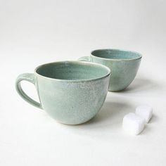 Instagram media by viceramics - Good morning! Who need some help for waking up? I will have an #espresso coffee and start the day! Small ceramic cups made during November & December: thrown and trimmed on the wheel, glazed with a delicate light green colour with tiny white speckles. #viceramics #stoneware #ceramics #clay #handmade #espressocups #cups #coffee #goodmorning #breakfast #breaktime #green #wakeup #coffeelover #tableware #drinks #madeinlondon #pottery #potterystudio #wheelthrown…