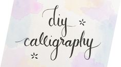HELLO EVERYBODY!!! By popular request, I have made a tutorial on how to do your very own calligraphy without a calligraphy pen! You'll be able to fool anyone...