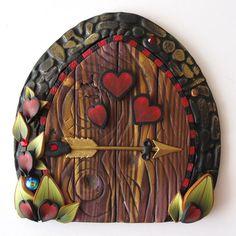 Cupid Fairy Door Pixie Portal by Claybykim on Etsy, $22.00