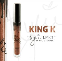 Last One   Kylie Cosmetics -- King K Lip Kit One Kylie Cosmetics Metal Matte Lipstick Lip Kit in the color King K. This lip kit is brand new, never opened. The lip kit includes one metal matte lipstick. [NO TRADES]  Kylie Cosmetics purchases will be shipped in the original packaging (box and card) if you purchase 3, or more, Kylie Cosmetics products at the same time. Kylie Cosmetics Makeup Lipstick