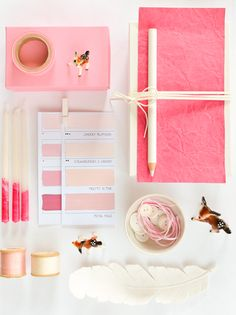 Christmas Coral Inspiration Board Incredible Crafts and Moodboard Ideas