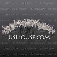 Headpieces - $15.99 - Alloy With Rhinestones Wedding Hair comb (042016804) http://jjshouse.com/Alloy-With-Rhinestones-Wedding-Hair-Comb-042016804-g16804