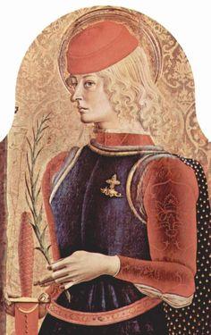 CARLO CRIVELLI (1435 – 1495)    Polittico di Sant'Emidio - San Giorgio (dettaglio). Cattedrale di Sant'Emidio, Ascoli.