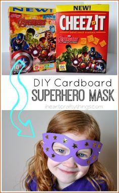 DIY Cardboard Superhero Masks | I Heart Crafty Things