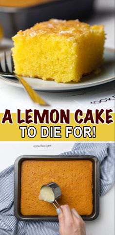 Lemon Dessert Recipes, Cake Mix Recipes, Lemon Recipes, Pound Cake Recipes, Desert Recipes, Easy Desserts, Sweet Recipes, Delicious Desserts, Lemon Cake Mixes