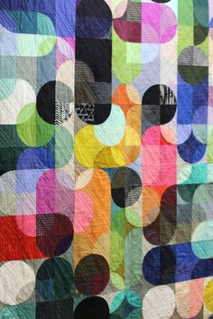 What a fun pattern! Hoffman Basics at #quiltmarket #ctdoesquiltmarket.
