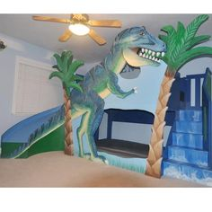 Kids Dinosaur theme by Renaissance Painted Finishes Kids Room
