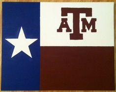 A Texas Flag by PinkPearlArt on Etsy, $30.00