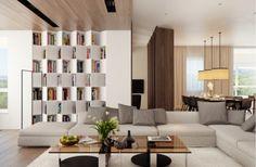 salon moderne design Fedorova bibliothèque cubes super