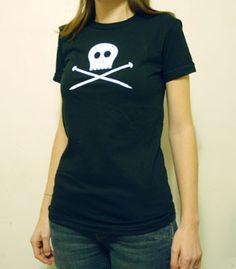 Image of Skully Knitting Needles T-Shirt