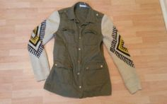 Military jacket with Aztec detail