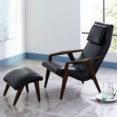 Contour Mid-Century Leather Chair #westelm