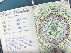 Mood mandala bullet journal mood tracker