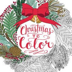 It's beginning to look a lot like Christmas! Get into the holiday spirit with Christmas to Color by Mary Tanana!